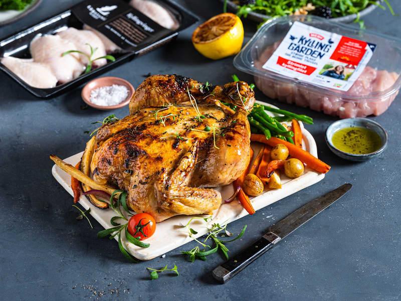 Saftig kylling