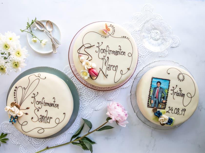 Slik bestiller du kake med eget bilde og tekst