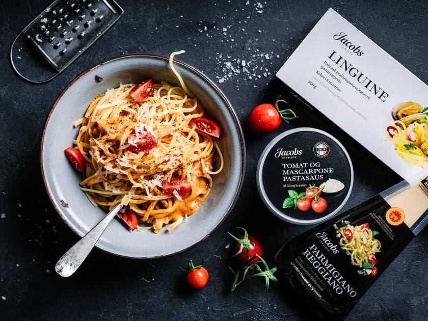 Italiensk pasta med Jacobs Utvalgte