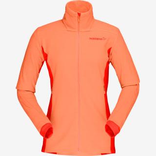Veste polaire femme orange
