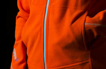 Norrona casual fleece in orange