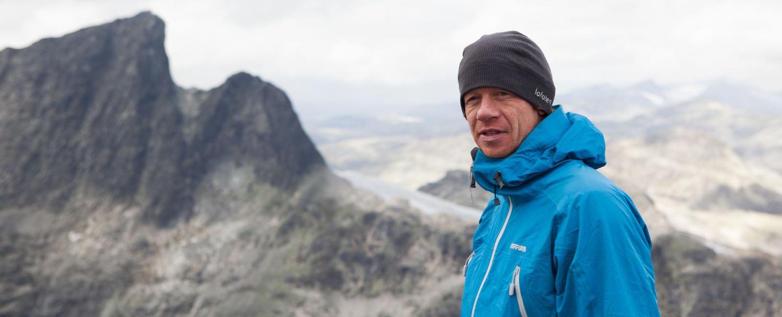 Norrona ambassador and professional climber Robert Caspersen