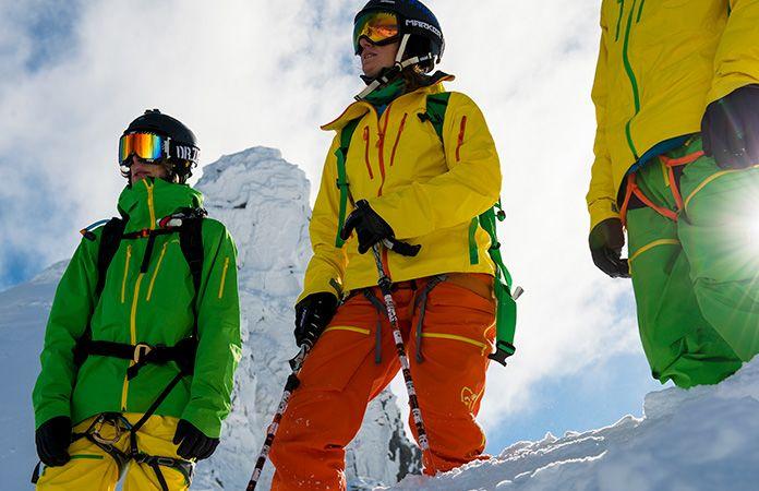Norrona lofoten Gore-Tex Pro jacket in action