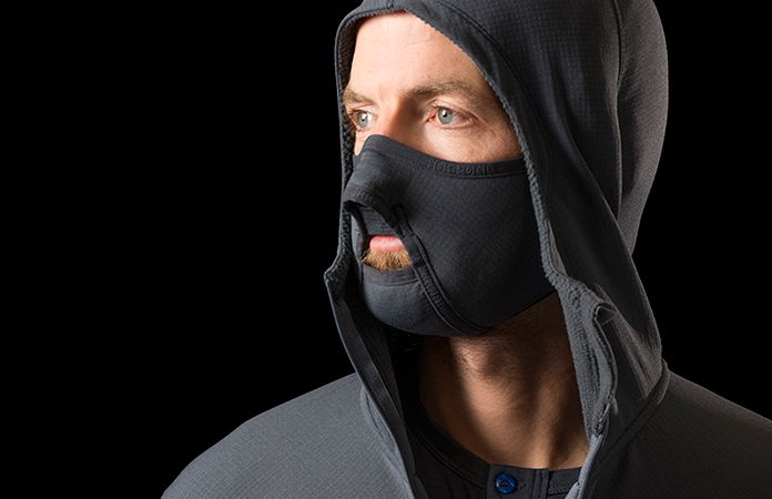 Norrøna lyngen hoodie with integrated face mask
