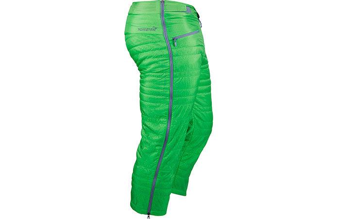 Norrøna lyngen alpha bukse til topptur med hel-lengde glidelås