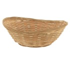 Brødkurv oval i bambus 260 x 190 mm