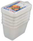 Plastboks med lokk 1/4 GN 100 Pakke a 5 stk