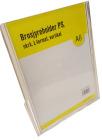 Brosjyreholder PS A6, skrå, L-format, Stående