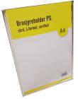 Brosjyreholder PS A4, skrå, L-format, Stående