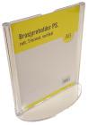 Brosjyreholder PS A6, rett, T-format, Stående
