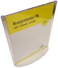 Brosjyreholder PS A4, rett, T-format, Stående