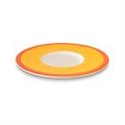 Figgjo 1059UHCAGR Capri gul/rød skål/tallerken Ø12,5 cm H1,0