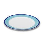 Figgjo 1304HHCAU Capri turkis/blå tallerken Ø26,5 cm H2,2 cm