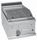 MBM Minima GPL46 lavasteingrill-topp m/ kjøtt grillplate