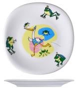 Benedikt KVA2222 barneservise Jenny frosk flat tallerken ø22