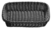 Brødkurv rektangulær sort 41 x 30 x 9 cm