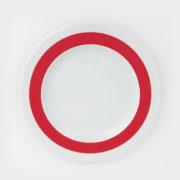 Benedikt Basic tallerken 17 cm m/rød ring