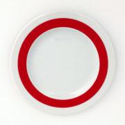 Benedikt Basic tallerken 20 cm m/rød ring