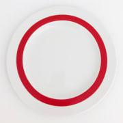 Benedikt Basic tallerken 24 cm m/rød ring