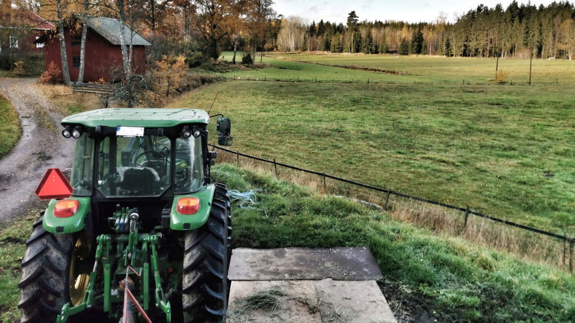 Nå er det påbudt med bruk av setebelte i traktor