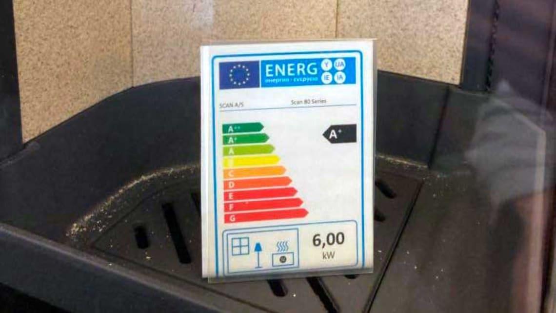 Ny energimerking - også for vedovner