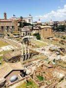 Het Romeins Forum van bovenaf