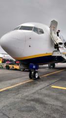 Avión de Ryanair en Ciampino
