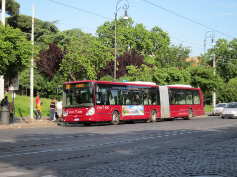 City buses in Rome