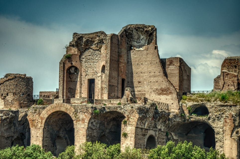 Ruins of the Golden House of Nero in Rome