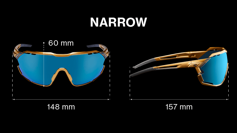 Narrow modellen är den smalaste modellen.