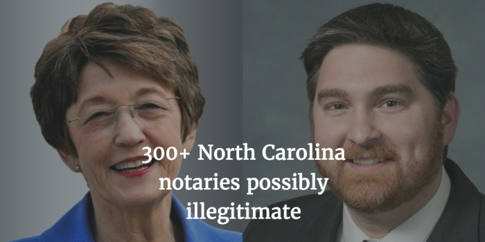 300+ North Carolina notaries possibly illegitimate