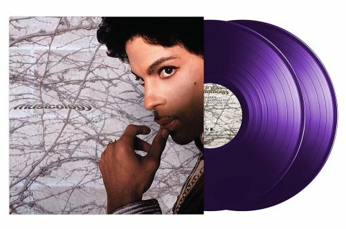 Photo of Prince's Musicology 2019 vinyl reissue showing the cover and 2 purple records