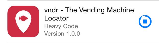Progress Indicator Example when downloading the vndr app