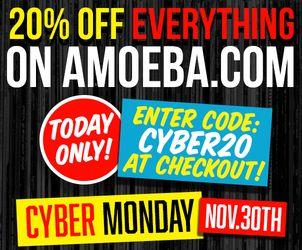 Amoeba 20% sale use code CYBER20