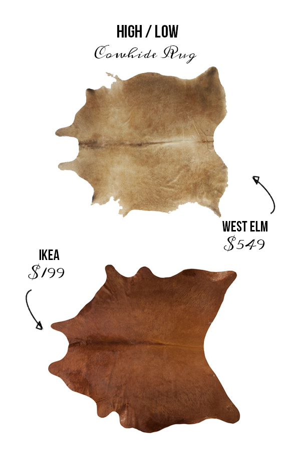 the cowhide rug is definitely trendy in todayu0027s decor but these types of rugs can cost more than 500 while we love the look we found a much more