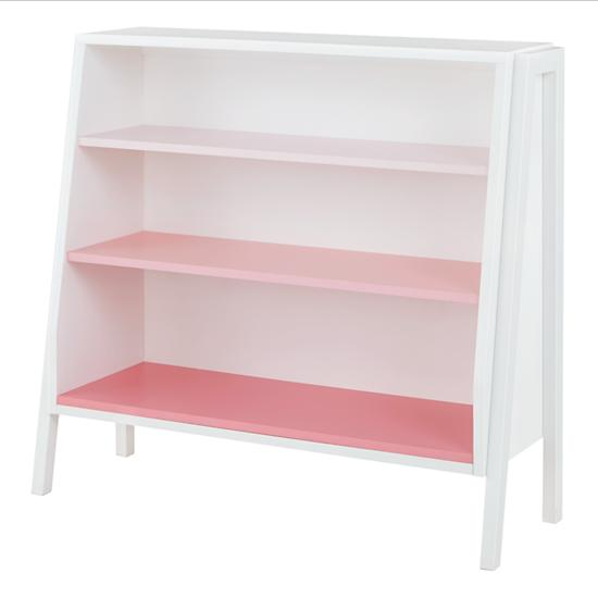 white-and-pink-wide-graduated-bookcase
