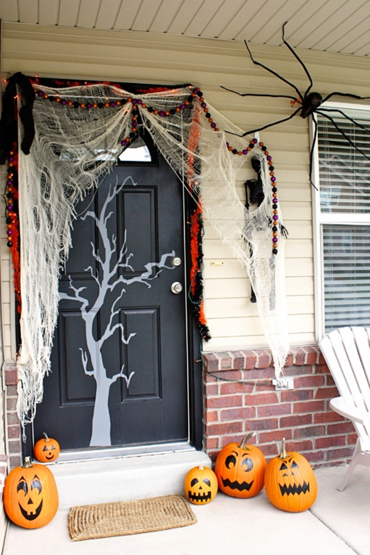 Halloween front porch decorations - Craftberrybush Com Small Porch Decorating Cute Halloween Front