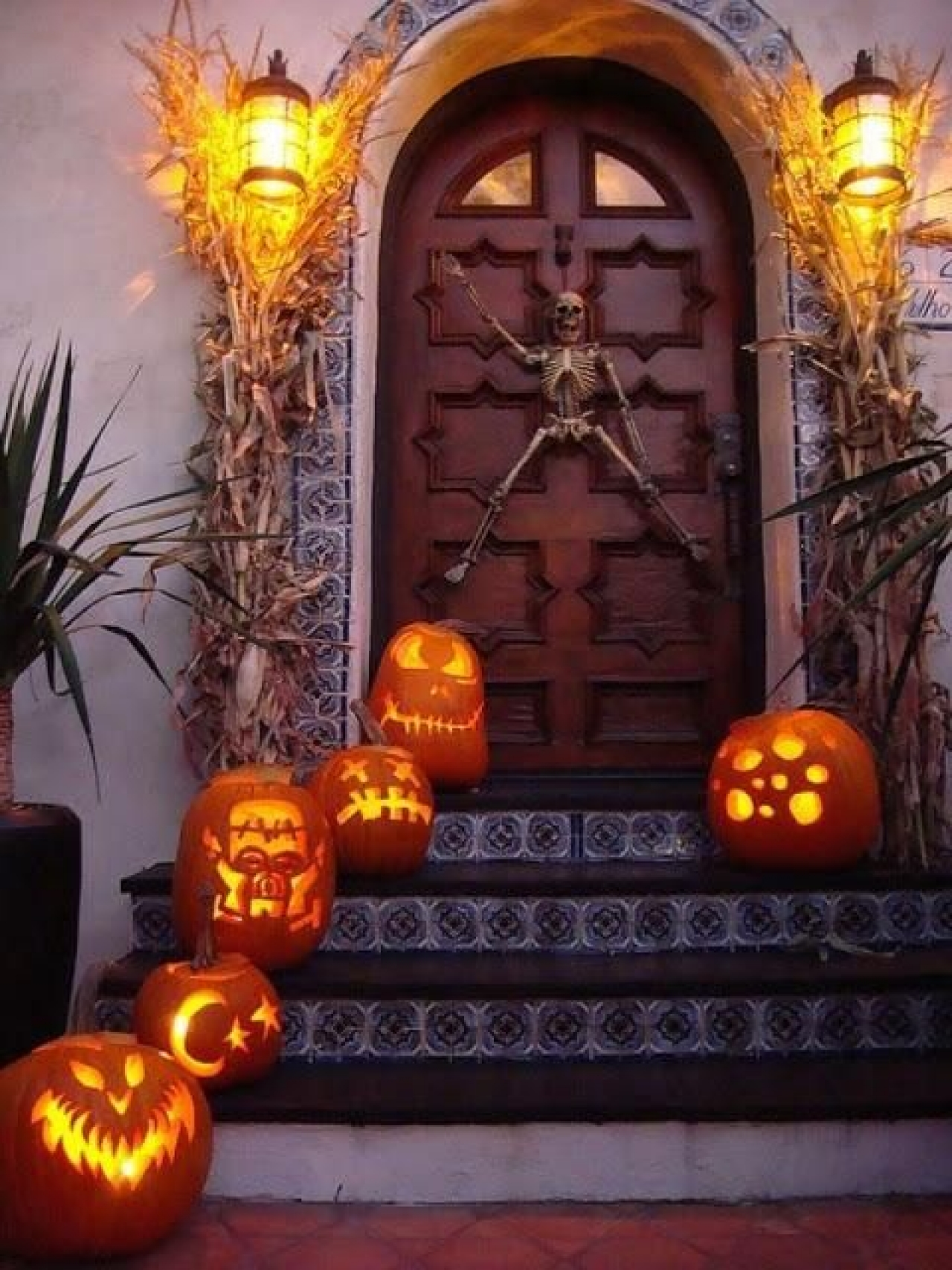 black white and orange & Halloween Begins (and Ends) with Your Front Porch - The Accent™