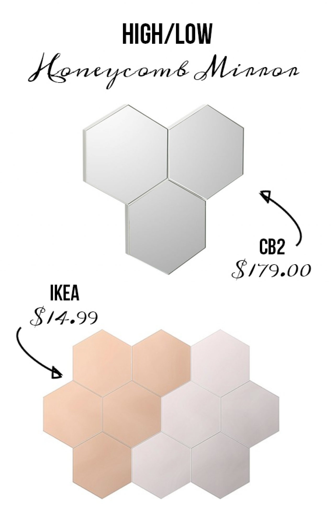 Honeycomb Is The New Mirror Shape You Need Due To Its Utter Statement Making Look On A Wall One Or Six