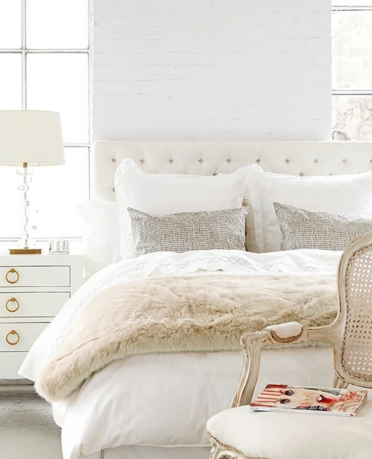 Real/Deal/Steal: A Bedroom in Shades of White