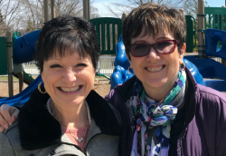 Elaine Fox (left) and Robin Pfenning (right), preschooler teachers at the Growing Tree Preschool at Gurnee Park District in Illinois have over 14 years teaching experience. Photo courtesy of Deanna Johann.