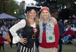Rachel Waldron (left), recreation program supervisor for Dunwoody Parks and Recreation, at a Halloween event. Photo self-submitted.