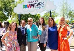 Richard Zavala (second from left), director of City of Fort Worth Park & Recreation Department, at the ribbon cutting ceremony for Dream Park. Photo courtesy of Daniel Villegas.