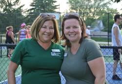 Sabrina Hinkens (left), youth program supervisor for Gurnee Park District, with her colleague, Sue McDougle. Photo courtesy of Deanna Johann.