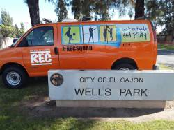 The city of El Cajon, California, created Rec Squad, a mobile recreation program that brings outdoor recreation to local parks that do not have community centers. Photo courtesy of the city of El Cajon.