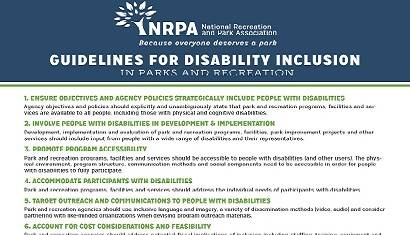 Parks for Inclusion Guidelines 410