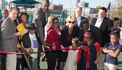 ribbon cutting parks build community