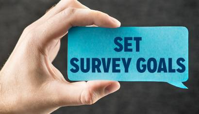 surveys customer feedback step one set goals 410