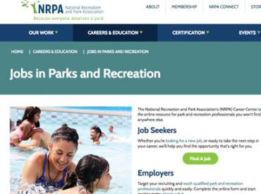 2017 August NRPA Update Five Reasons to Post Your Open Position on the NRPA Career Center 410