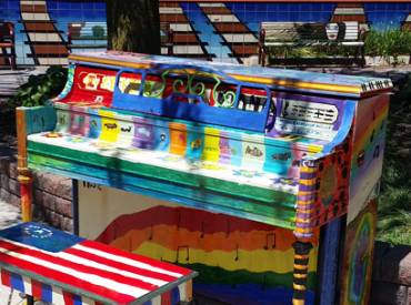 2017 August Park Bench In Tune with the Community 410